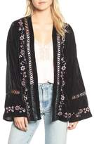 Willow & Clay Women's Embroidered Velvet Jacket