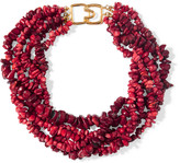 Kenneth Jay Lane Beaded resin necklace