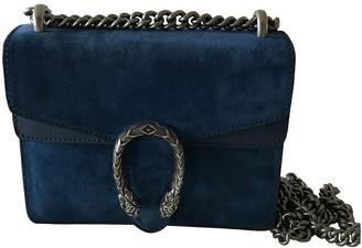 Gucci Dionysus Blue Suede Handbags