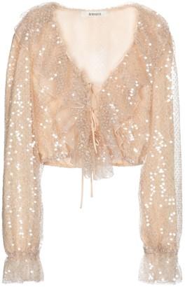 Rodarte Sequined blouse