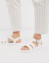 London Rebel gladiator jelly sandal in white
