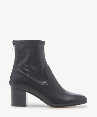 Sole Society Women's Pasil Sock Bootie Black Size 5 Leather From