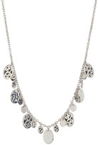 Lois Hill Sterling Silver Mixed Handmade Signature Scroll Necklace