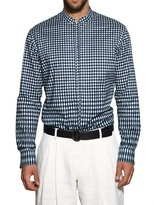 Giorgio Armani Stretch Cotton Poplin Printed Shirt