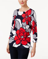 Alfred Dunner Uptown Girl Floral Tie-Hem Sweater