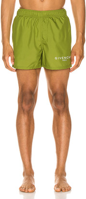 Givenchy Technical Swim Trunks in Olive Green | FWRD