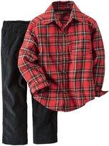 Carter's 2 Piece Shirt Set - Plaid - Newborn