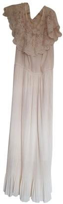 BEIGE Non Signé / Unsigned Non Signe / Unsigned Lace Dresses