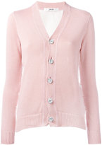 Julien David raw side detail cardigan - women - Cotton/Nylon - S