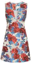Mary Katrantzou Eridanus floral-jacquard V-neck dress