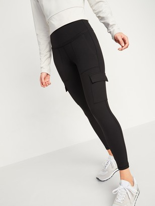 Old Navy High-Waisted Elevate Cargo 7/8-Length Compression Leggings for Women