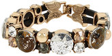 Betsey Johnson Angels And Wings Stone Leather Bracelet