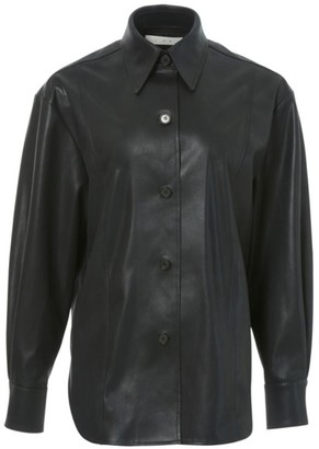 LVIR Faux-Leather Shirt