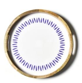 Coton Colors Drop Mango Wood Round Handled Tray