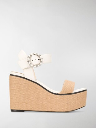 Jimmy Choo Abigail 100mm wedge sandals
