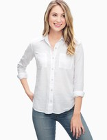 Splendid Double Cloth Boyfriend Shirt