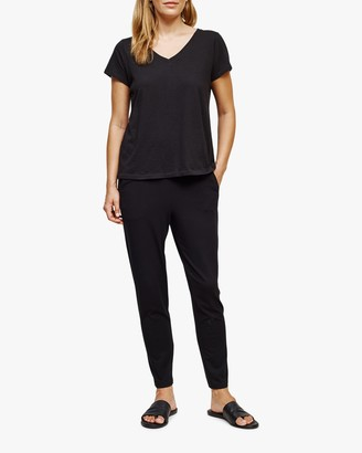 Eileen Fisher V Neck Short-Sleeve Tee
