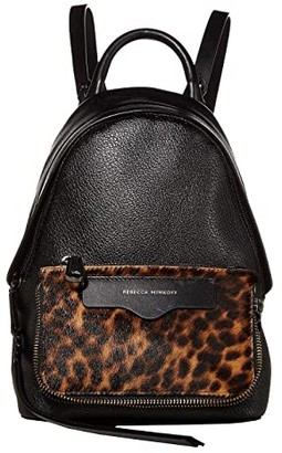 Rebecca Minkoff Emma Mini Convertible Backpack (Leopard) Backpack Bags
