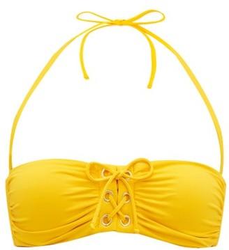 Melissa Odabash Malaysia Laced Bandeau Bikini Top - Yellow