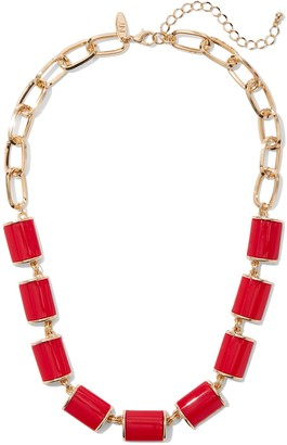 New York & Co. Red Enamel Statement Necklace