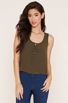 Forever 21 Lace-Up Crepe Tank