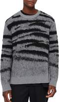 Allsaints Ture Striped Fuzzy Crewneck Sweater