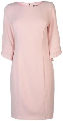 DKNY Occasion Occasion three quarter Ruffle Sleeve Dress Womens