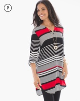 Chico's Stripe Transitions Tie-Front Top