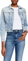 7 For All Mankind Cotton-Cashmere Triple-Needle Denim Jacket