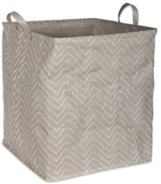 "Dii DII PE Coated Tribal Chevron Laundry Hamper, 16"" x 16"" x 19"", Woven Paper, Multiple Colors"