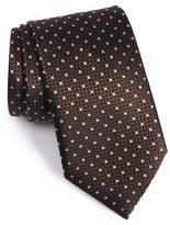 Ermenegildo Zegna Men's Dot Silk Tie