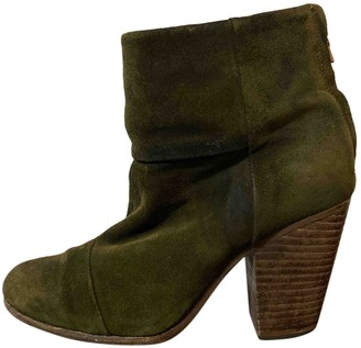Rag & Bone Green Suede Ankle boots