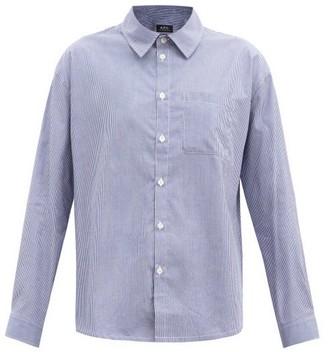 A.P.C. Boyfriend Striped Cotton Shirt - Light Blue