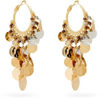 Rosantica Gitana Coin-embellished Hoop Earrings - Silver Gold