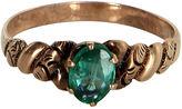 One Kings Lane Vintage Victorian Green Paste Rose Gold Ring