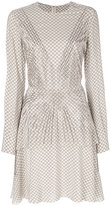 Stella McCartney embellished printed dress - women - Silk/Aluminium - 40