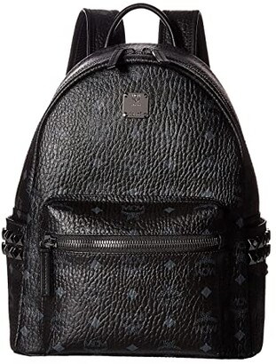 MCM Stark Side Stud Small Backpack (Black) Backpack Bags
