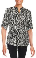 Calvin Klein Patterned Zip-Placket Tunic