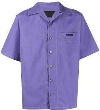 Prada Contrast Stitching Bowling Shirt