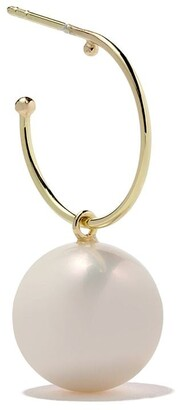 Wouters & Hendrix Gold 18kt yellow gold Hoop Pearl earring