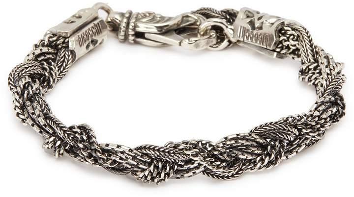 Emanuele Bicocchi Multi braided chain silver bracelet