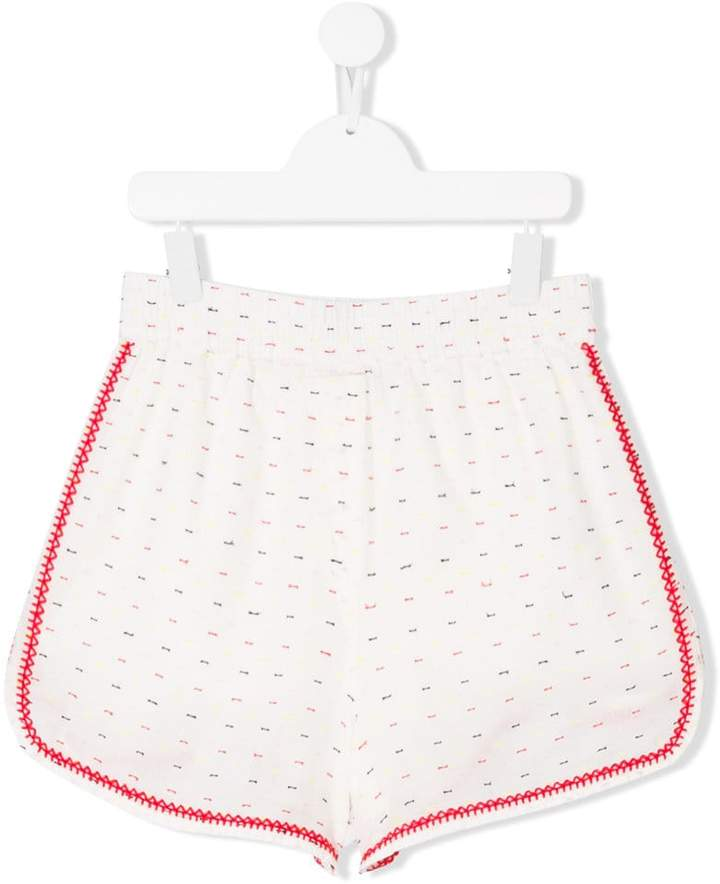 Stella McCartney Teen Nathalie contrast-trim shorts