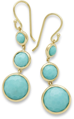 Ippolita 18k Lollipop® Three-Stone Drop Earrings in Turquoise