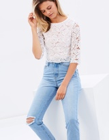 Oasis Lace Button Back Top