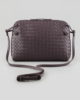 Bottega Veneta Veneta Small Crossbody Bag, Plum Gray