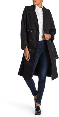 London Fog Modern Double Breasted Belted Trench Coat