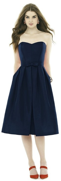 Alfred Sung D717 Bridesmaid Dress in Midnight