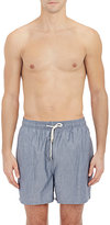Solid & Striped Men's Chambray Swim Trunks-BLUE