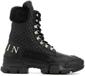 Philipp Plein quilted ankle boots