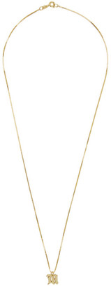 Misbhv Gold Logo Necklace